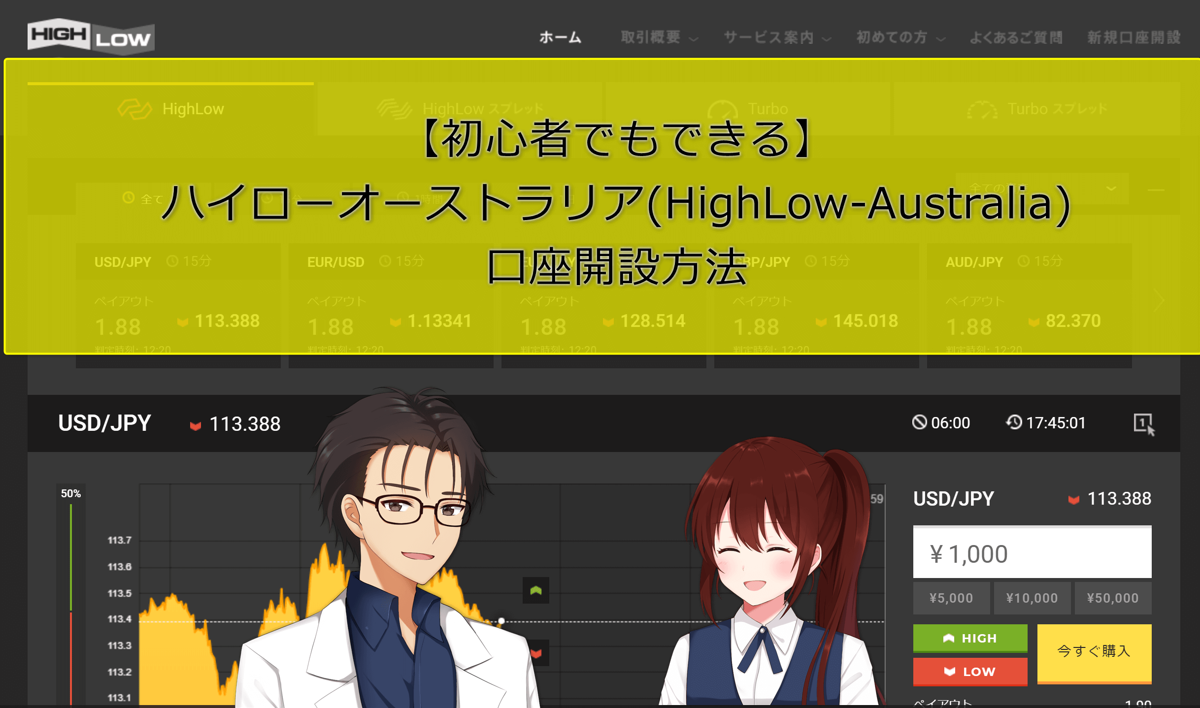 【初心者でもできる】ハイローオーストラリア(HighLow-Australia)口座開設方法