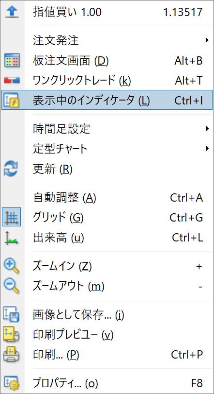 【MT4の使い方】MT4(MetaTrader4)にインジケーターを表示させる方法5