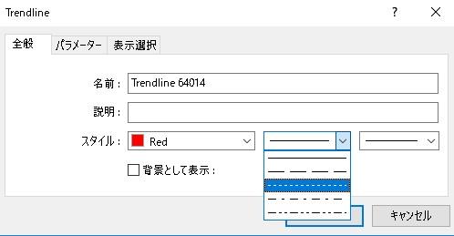 9【BO初心者向け】MT4に引いたトレンドラインを点線に変更したやり方