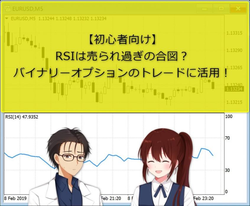 【初心者向け】RSIは売られ過ぎの合図?バイナリーオプションのトレードに活用!