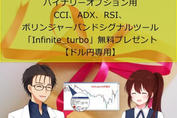 バイナリーオプション用CCI、ADX、RSI、ボリンジャーバンドシグナルツール「Infinite_turbo」無料プレゼント【ドル円専用】